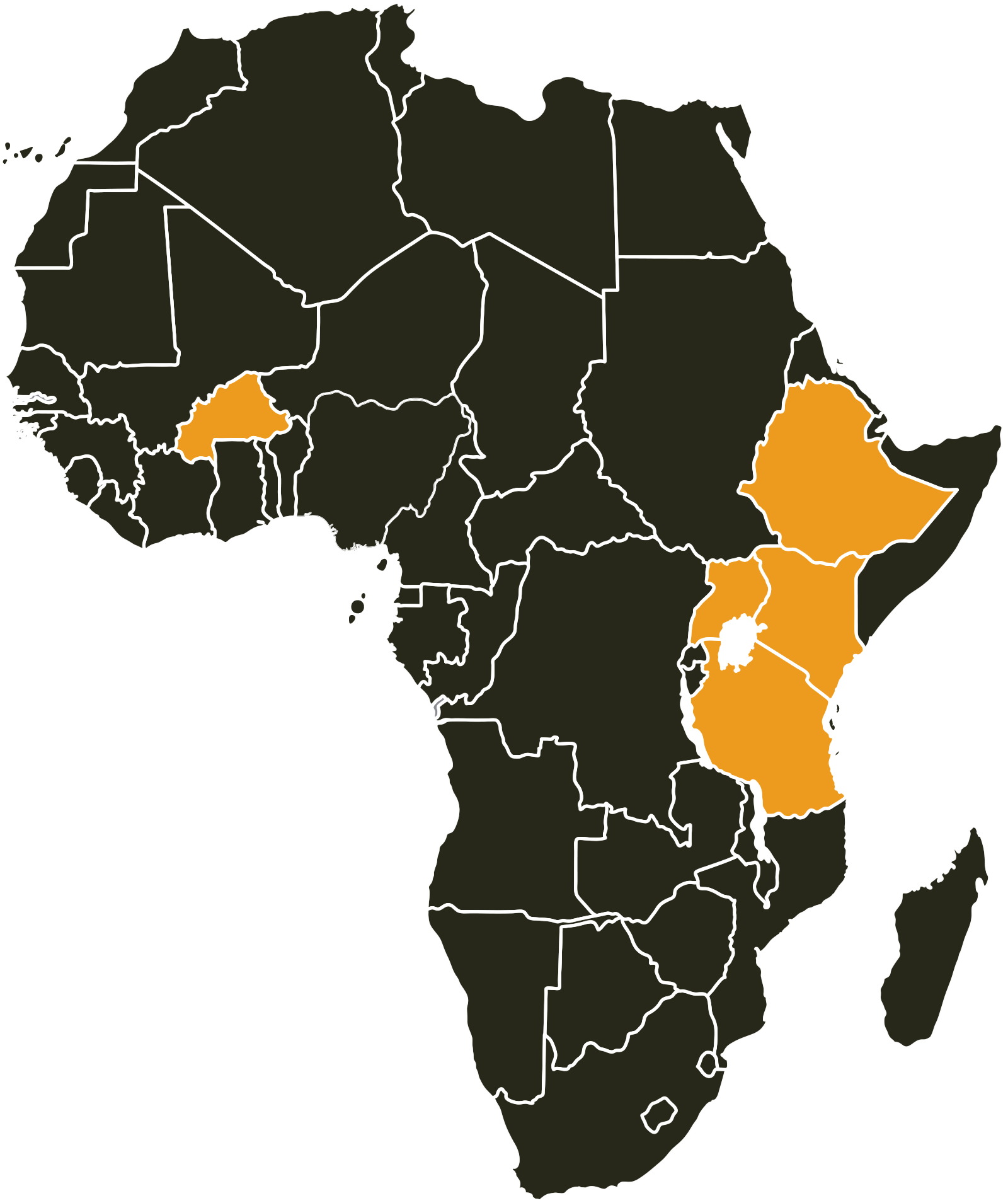 ABPP Africa presence map