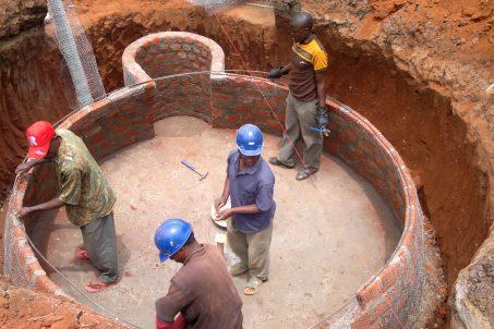 Biogas plant construction